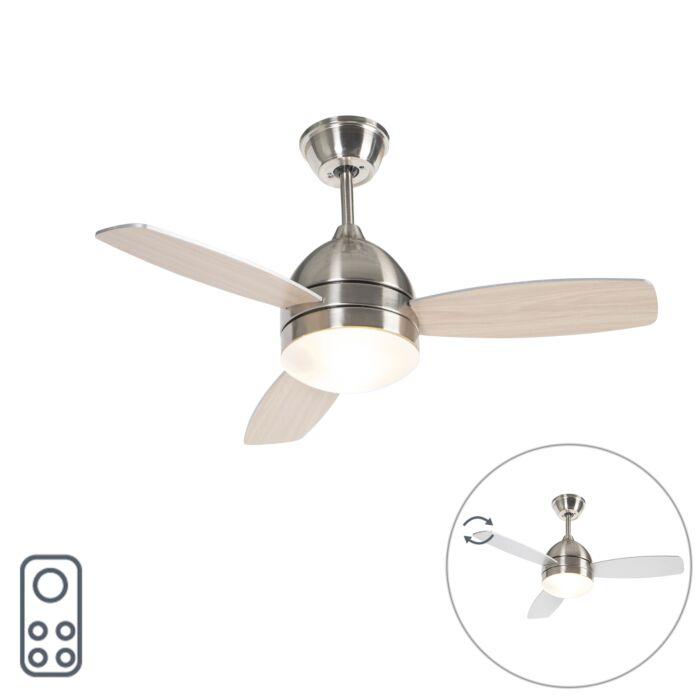 Plafondventilator-staal-met-afstandsbediening---Rotar