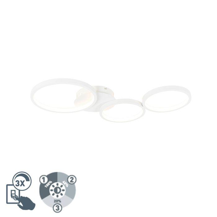 Plafondlamp-wit-incl.-LED-3-staps-dimbaar-3-lichts---Pande