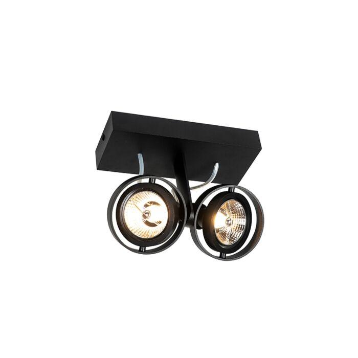 Moderne-spot-zwart-2-lichts---Master-70