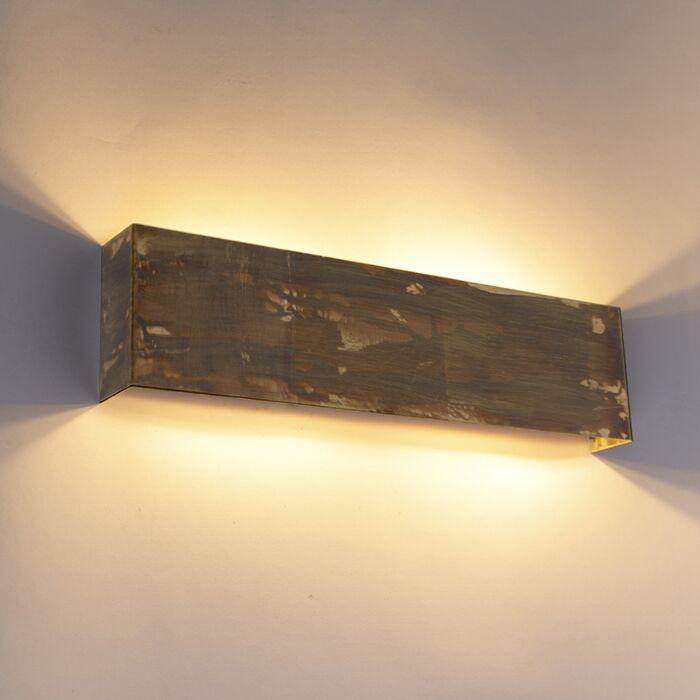 Industriële-wandlamp-goud-4-lichts---Justin