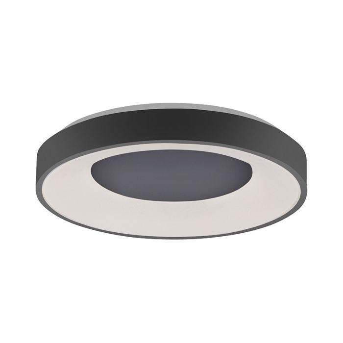 Moderne-plafondlamp-zwart-incl.-LED-3-staps-dimbaar---Steffie