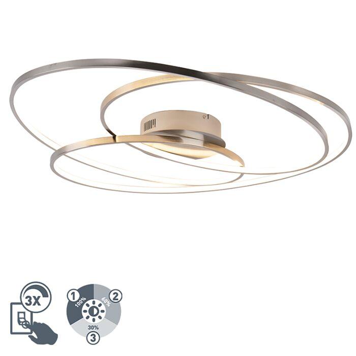 Plafonnière-staal-80-cm-incl.-LED-3-staps-dimbaar---Rowin