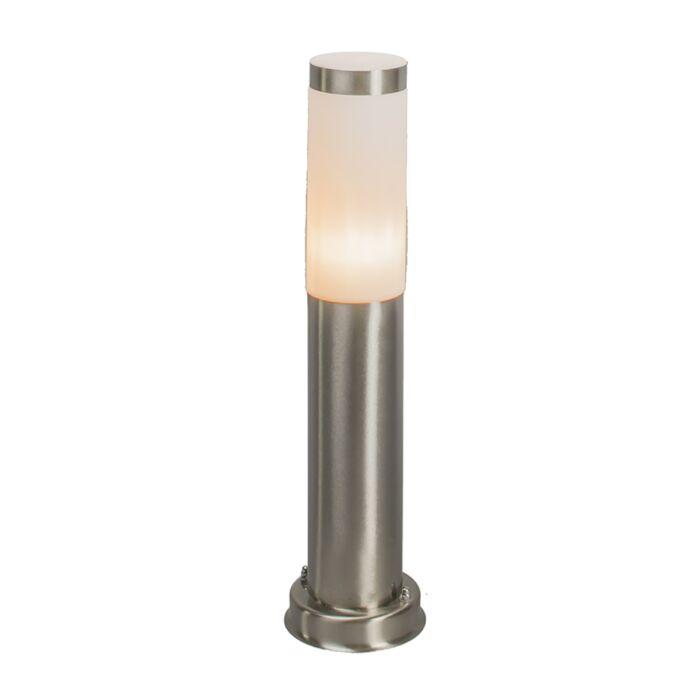 Moderne-buitenlamp-paal-staal-45-cm-IP44---Rox