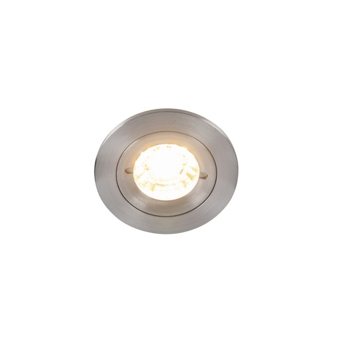 Moderne-inbouwspot-aluminium-IP44---Xena-Round