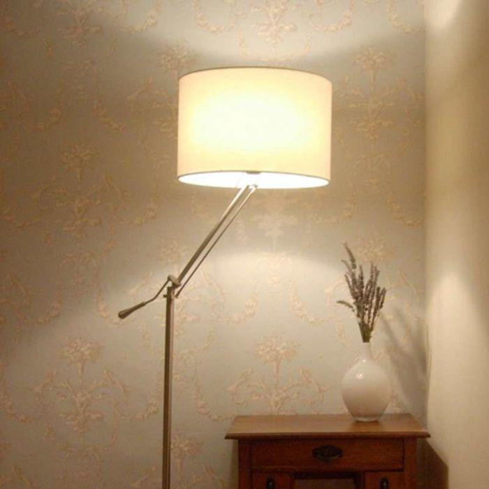 Boog-voor-vloerlamp-Luzzi-staal-met-kap-creme