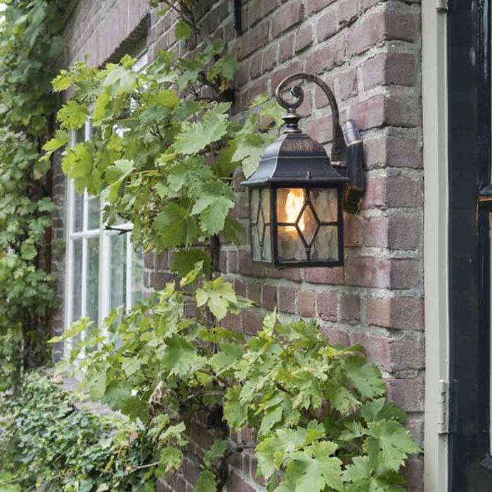 Romantische-buiten-wandlantaarn-brons---London