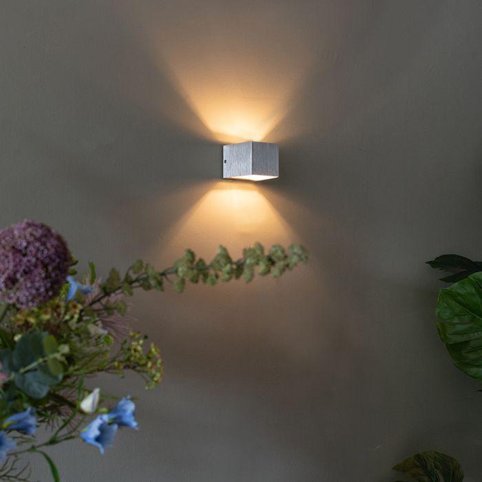 Moderne-wandlamp-aluminium---Transfer