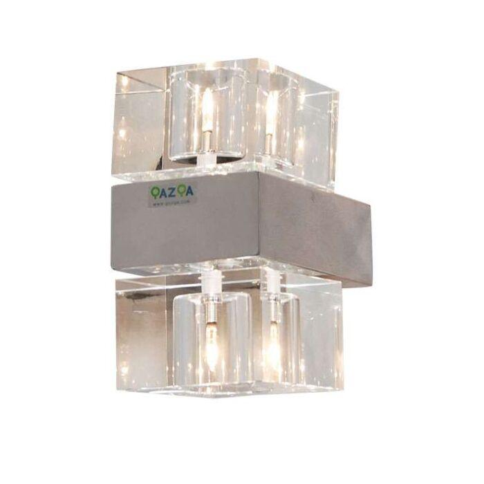 Wandlamp-Dice-2-chroom