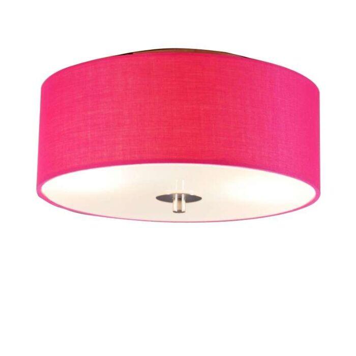 Plafonniere-Drum-30-rond-pink