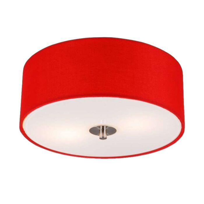 Moderne-plafondlamp-rood-30-cm---Drum