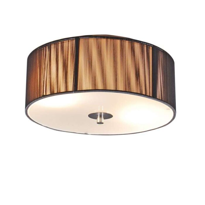 Klassieke-plafondlamp-antraciet-30-cm---Rope
