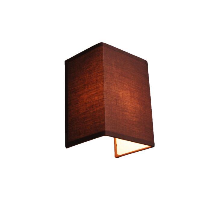 Landelijke-wandlamp-bruin---Vete