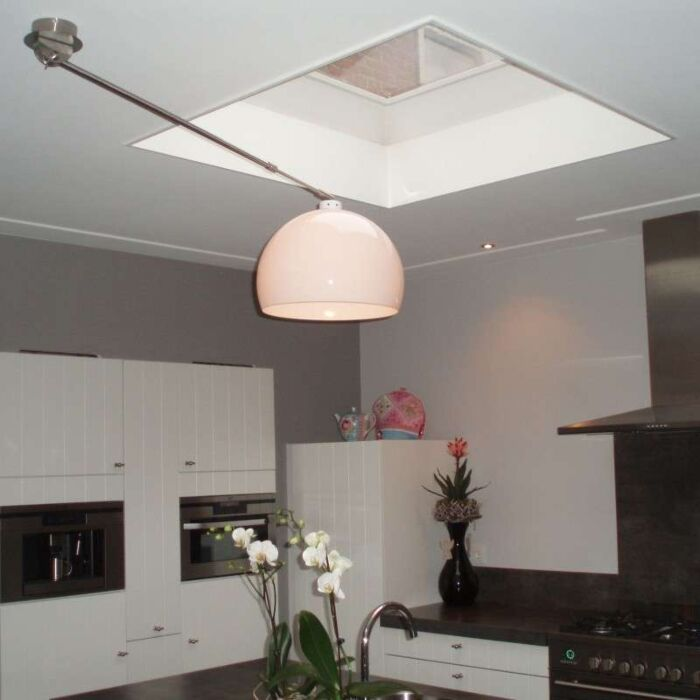 Hanglamp-Decentra-staal-wit