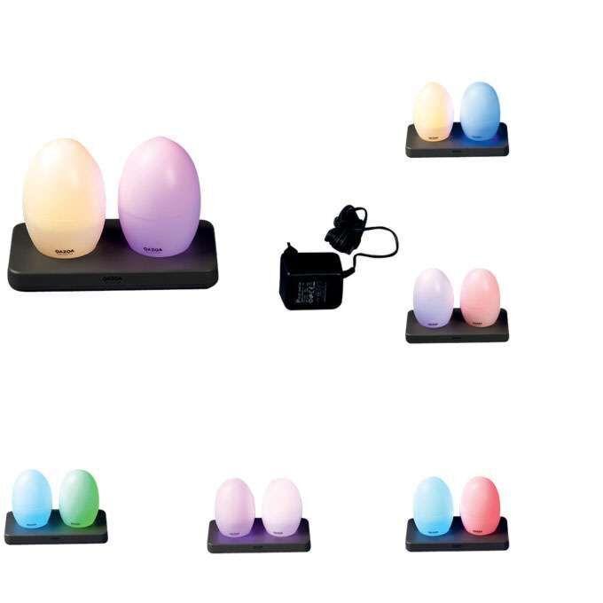 Set-van-twee-LED-lampen-EGG-oplaadbaar
