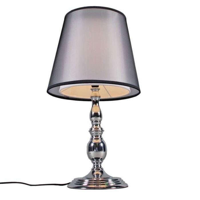 Tafellamp-Mythos-chroom-met-kap