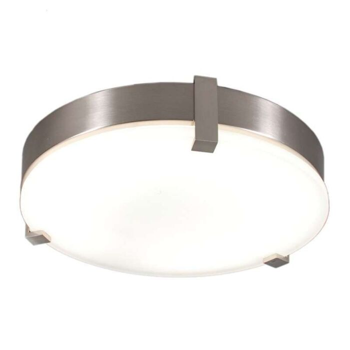 Plafonniere-Crook-rond-32W-staal