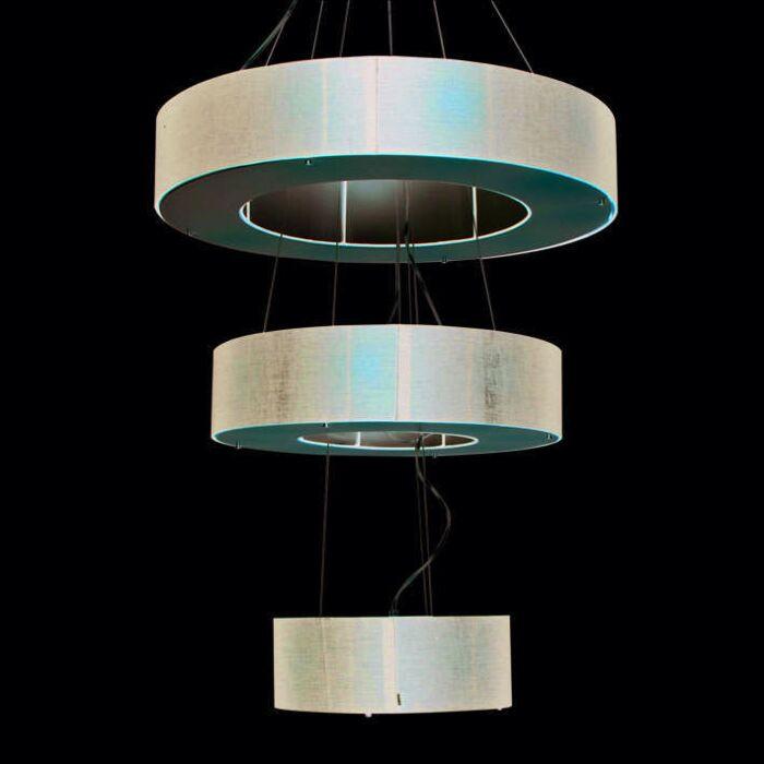 Hanglamp-Drum-Open-3-laags-zwart