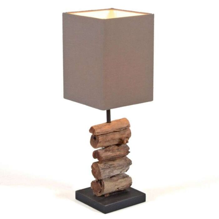 Tafellamp-Mayoree-met-bruine-kap