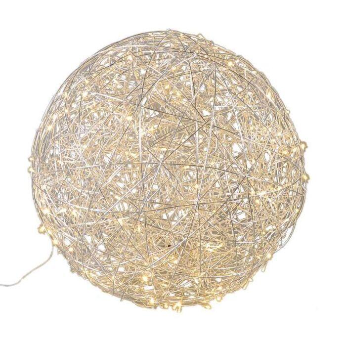 Vloerlamp-Draht-bol-80cm-LED-aluminium