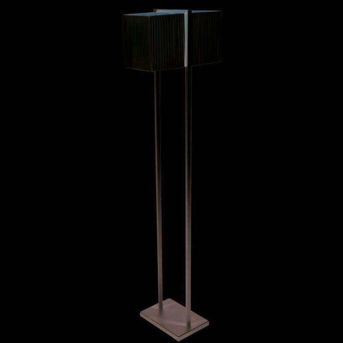 Vloerlamp-Lars-zilvergrijs-met-plisee-kap-creme-(ALLEEN-AF-TE-HALEN)
