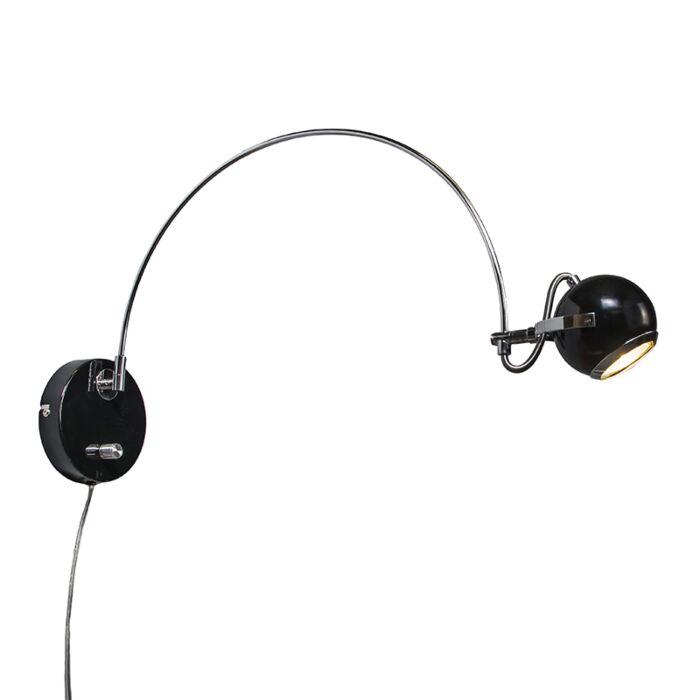 Wandlamp-Paris-boog-zwart