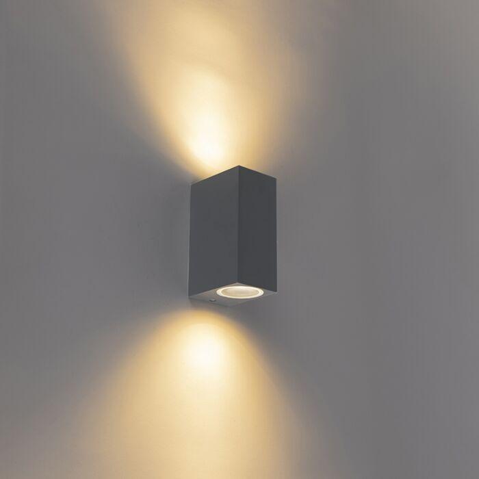 Moderne-wandlamp-antraciet-IP44---Baleno-II