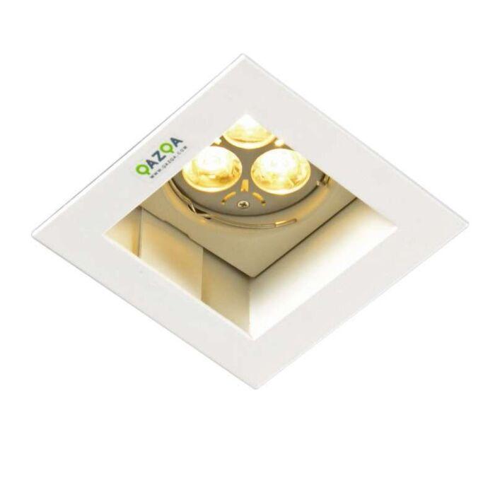 Inbouwspot-Diego-II-vierkant-wit