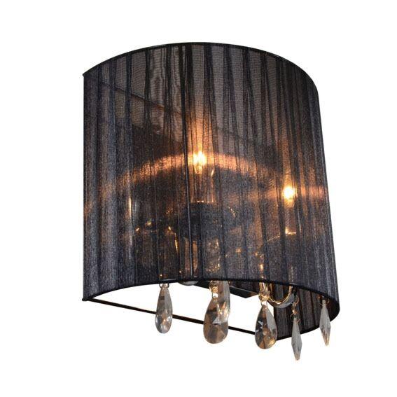 Klassieke-wandlamp-chroom-met-zwarte-kap---Ann-Kathrin-2