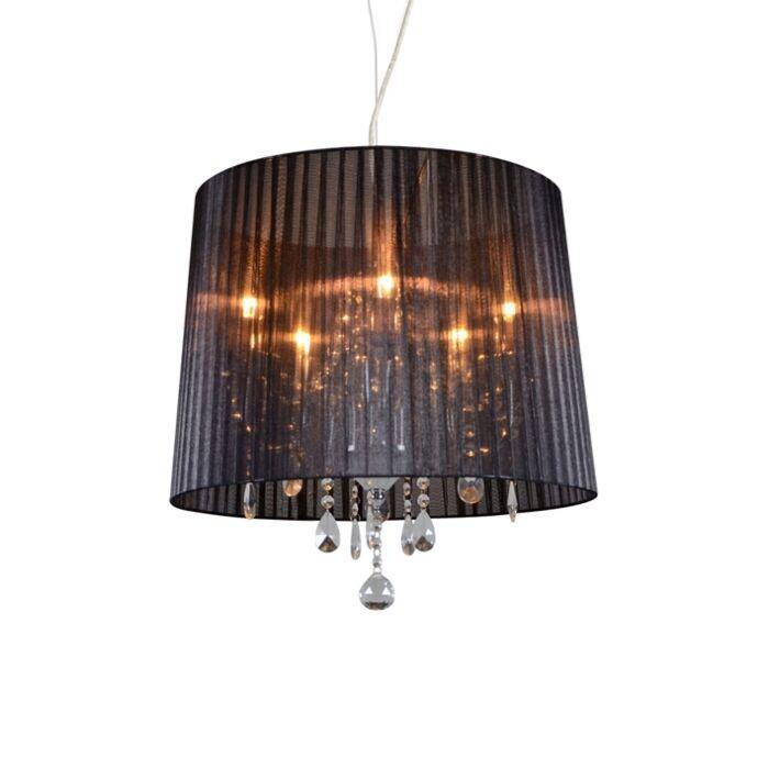 Kroonluchter-chroom-met-zwart-50-cm-5-lichts---Ann-Kathrin-5