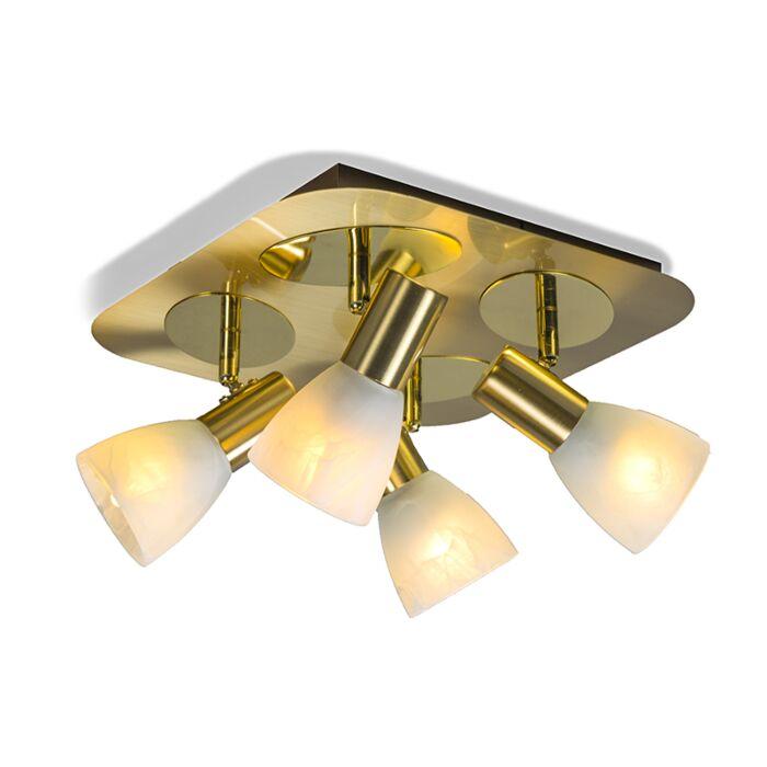 Spot-Oro-4-vierkant-mat-goud
