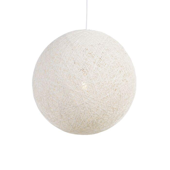Landelijke-hanglamp-wit-60-cm---Corda