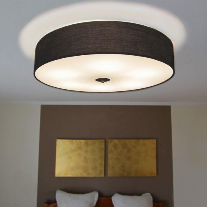 Landelijke-plafondlamp-zwart-70-cm---Drum