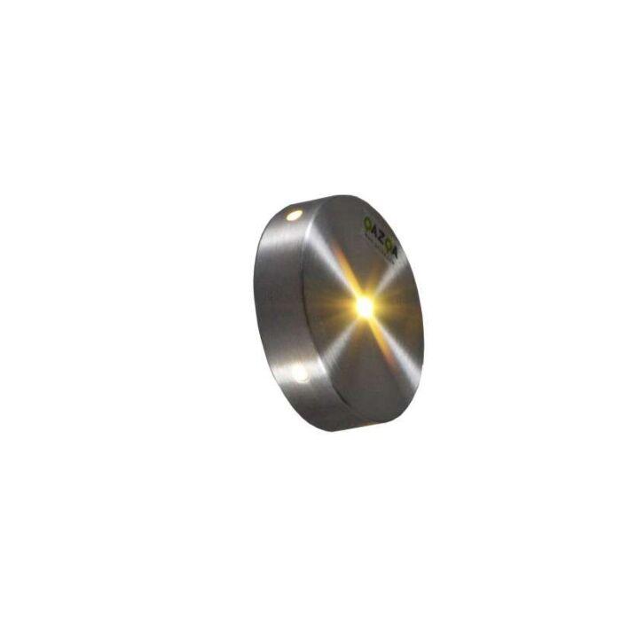 Wand-inbouwlamp-Quartz-rond-IV-aluminium
