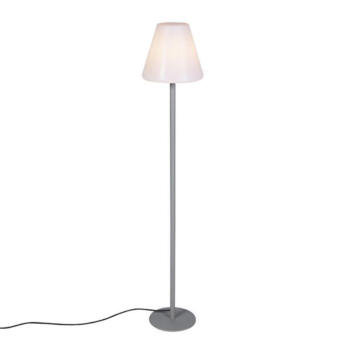 Moderne-buiten-vloerlamp-grijs-IP65---Virginia