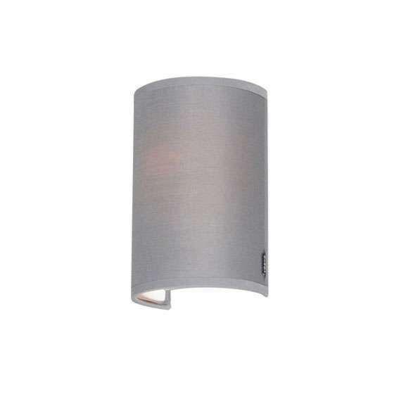 Moderne-wandlamp-grijs---Simple-Drum