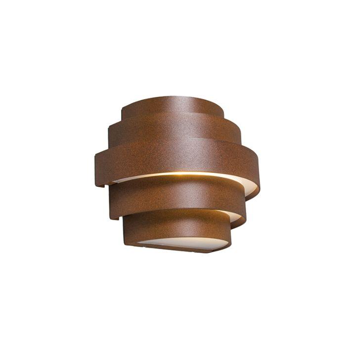Wandlamp-Bolster-roestbruin