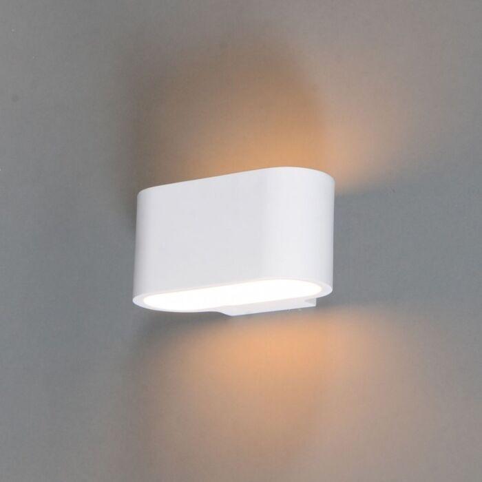 Moderne-wandlamp-wit-plat---Gipsy-Arles