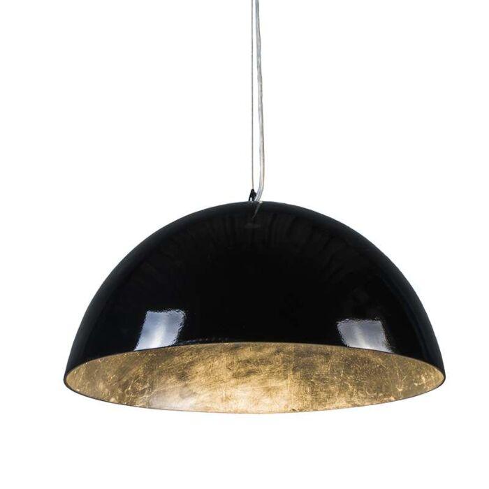 Hanglamp-Magna-Glossy-55cm-zwart-met-zilver
