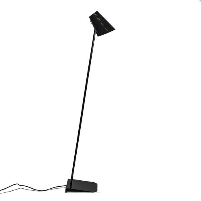 Vloerlamp-Straight-zwart