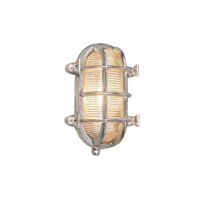 Wand/plafondlamp-Nautica-ovaal-nikkel