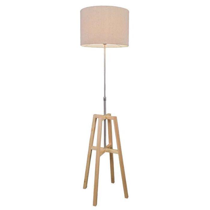 Vloerlamp-Pata-hout-met-kap