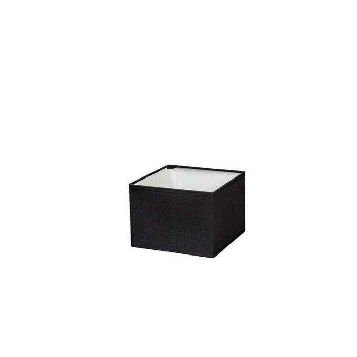 Kap-vierkant-17/17/12-zwart-E14