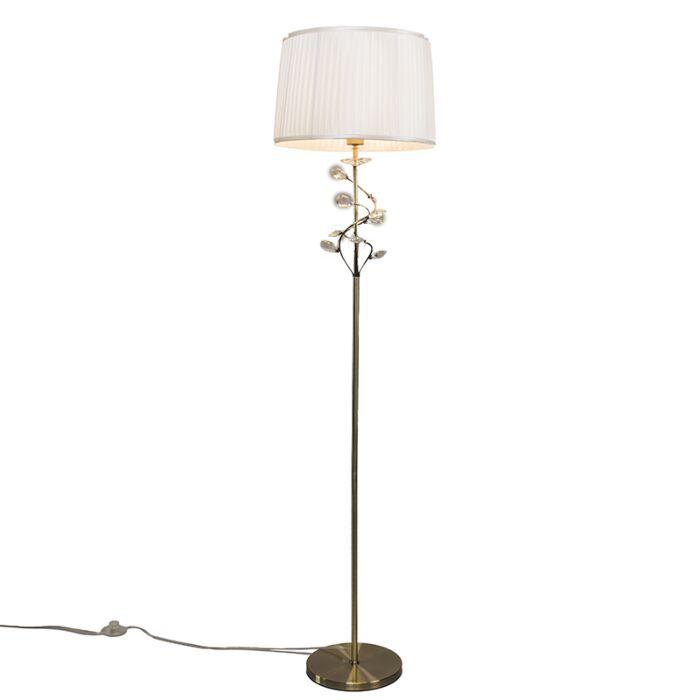 Vloerlamp-Ruffle-antiek-brons