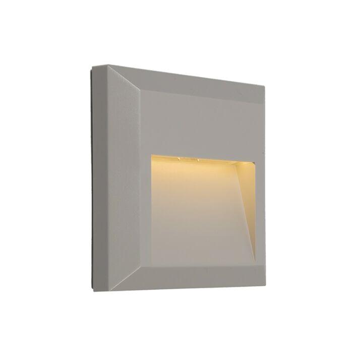 Moderne-wandlamp-lichtgrijs-incl.-LED---Gem-2