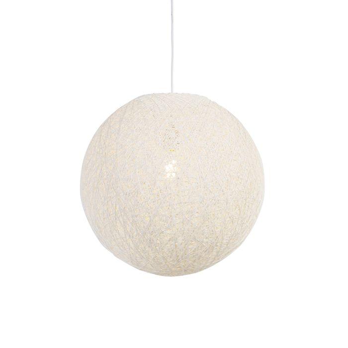Landelijke-hanglamp-wit-45-cm---Corda