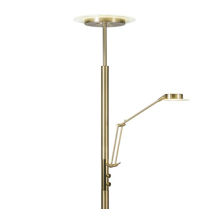 Uplighter-Luxus-met-leeslamp-mat-goud