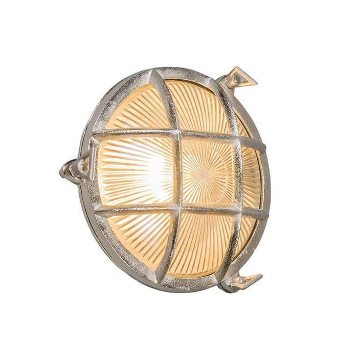 Wand/plafondlamp-Nautica-rond-nikkel