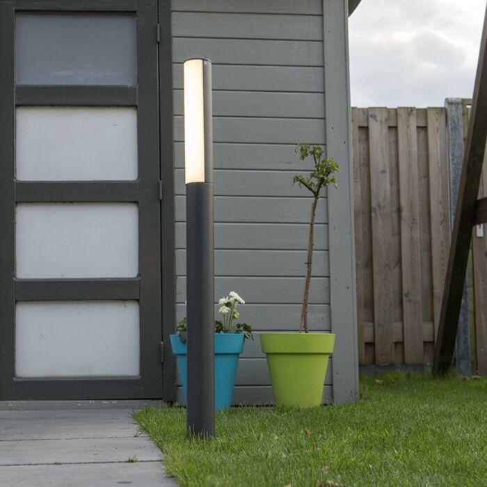 Buitenlamp-Column-P90-LED-donkergrijs