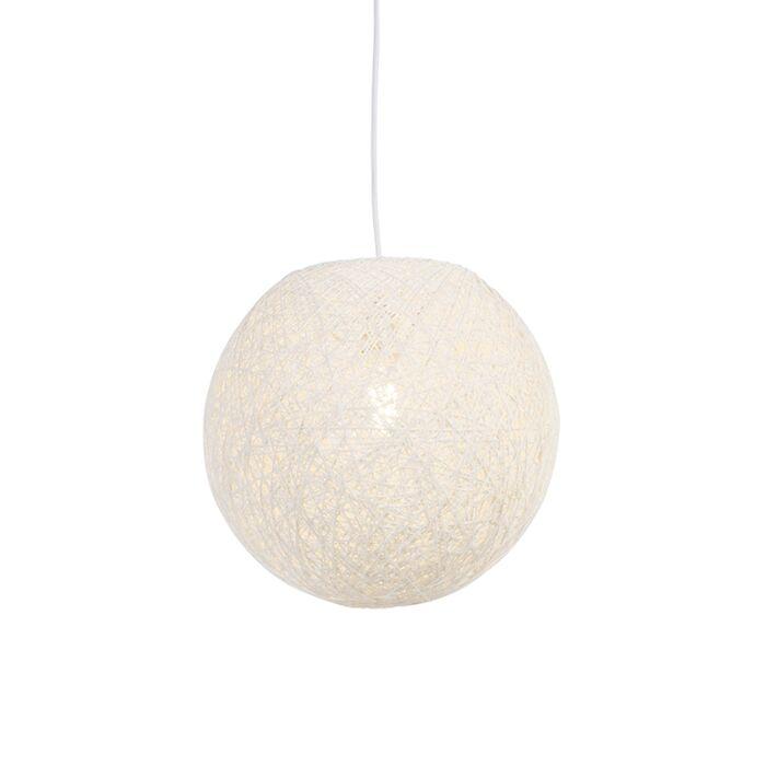 Landelijke-hanglamp-wit-35-cm---Corda