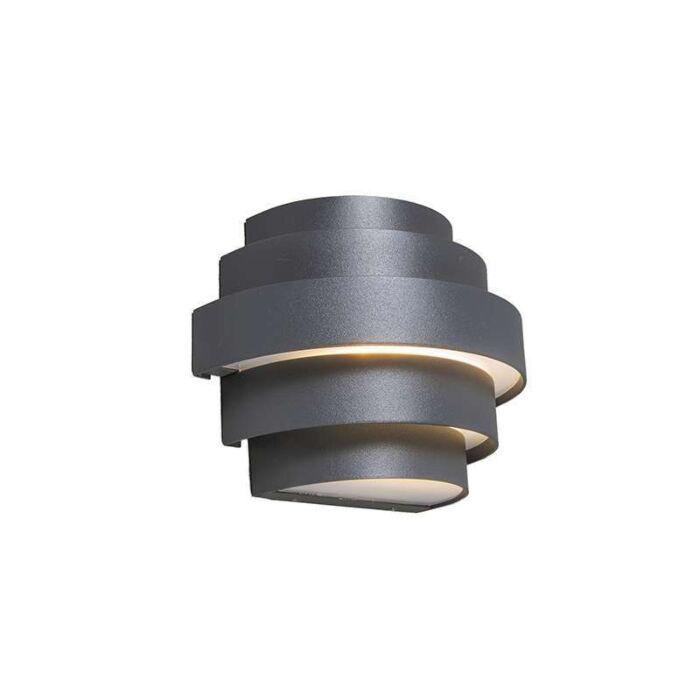 Wandlamp-Bolster-donker-grijs